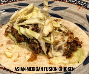 Asian Mexican Fusion Chicken Taco