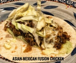 Asian Mexican Fusion Chicken Taco