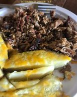 baked potato and barbecue pulled pork