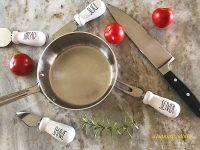 sauce pan Rae Dunn accessories tomatoes and rosemary