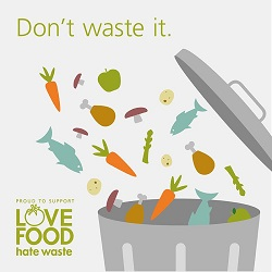 Don't Waste Food trash can