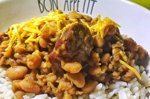 white bean and sausage chili