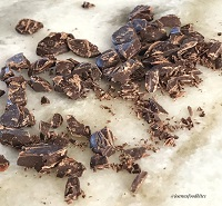 broken chocolate bits