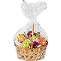 fruit wrapped gift basket