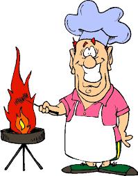 clip art man grilling
