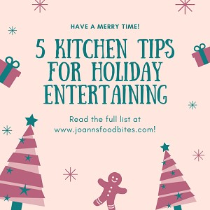 promo kitchen tips for holiday entertaining