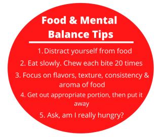 Food and mental balance tips