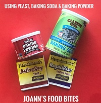 Leaveners yeast baking powder baking soda