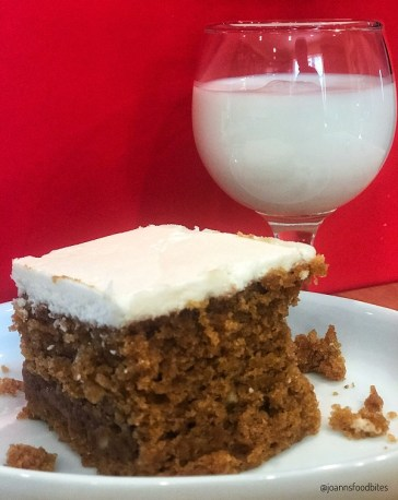 Pumpkin Cake with Spiced Rum Frosting