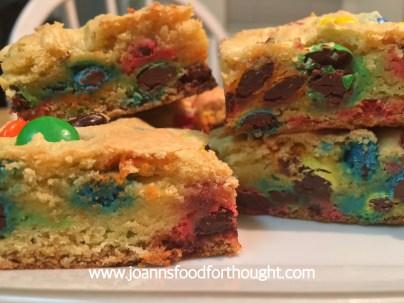 M&M Cookie Bar 1