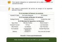 Desconexión del servicio de energía, 22 de abril zona rural de Gamarra, Morales y Aguachica.