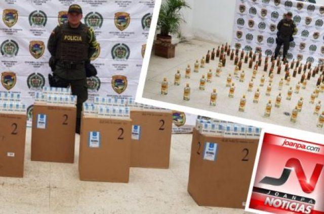 En Aguachica incautan licores y cigarrillos avaluados en mes de $20.000.000