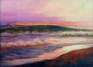 Ocean at Morro Bay, oil painting by Joan Pechanec