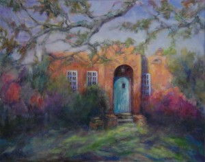 The Writer's Cottage, original oil painting by Joan Pechanec