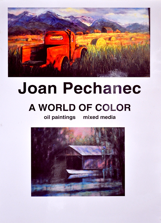 Poster for Joan Pechanec's show at the Dunsmuir ArtWalk, October 10, 2014