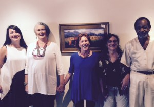 Latest News 11-30-15: Artist Joan Pechanec with family and friends who came to see her solo show at the Orland Art Center