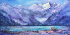 Canadian Glacier, painting by Joan Pechanec