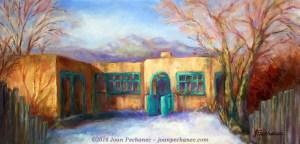 Yellow Adobe Original Oil Painting ~ 20 x 10 ~ $275