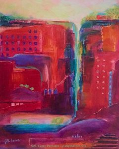 "Beneath the Surface (Sanctuary Series) Oil ~ 14"" x 11"" Framed ~ $275"