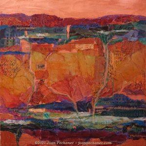 "Ancient Land ~ Mixed Media on Birchwood Panel ~ 24 x 24 x 1 ½"" ~ $875"