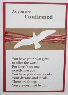 2014 tylers confirmation card