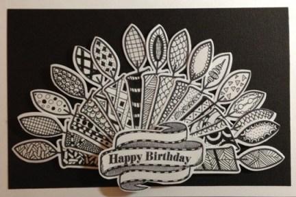 Happy Birthday Zentangle Card