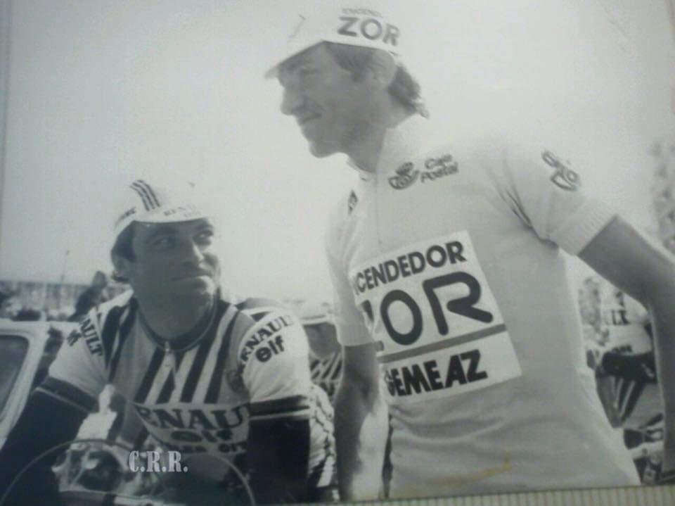 Alberto Fernández con Hinault JoanSeguidor