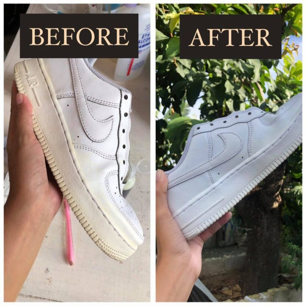 SHOE SOLE YELLOW STAIN REMOVER