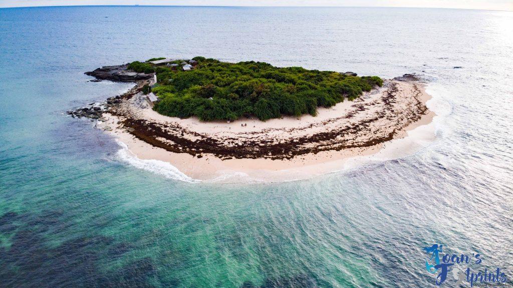 Colibra Island drone shot