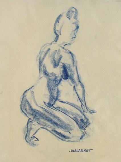 Female Gesture, Kneeling 3