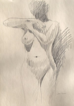 Female Gesture with Cast Shadows on Form