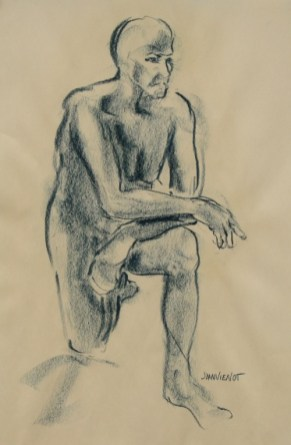 Male Gesture on One Knee