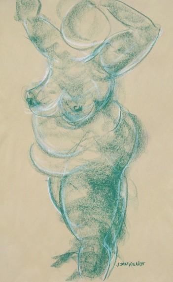 Mermaid Standing, Green