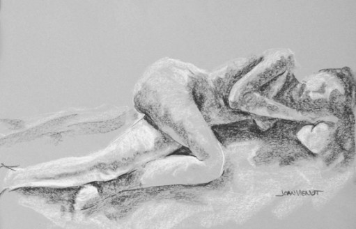 Value Study, Female Reclining, Knee Forward