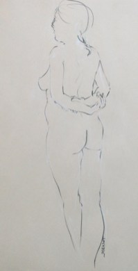 2011-0406 Standing line drawing