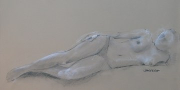 2011-1102 Reclining, 20-minute drawing