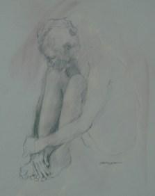 2012-0125 Seated, head on knees