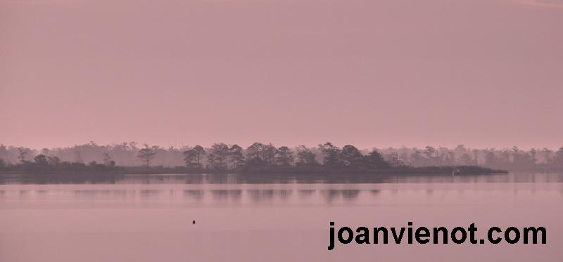 Pink hazy bay