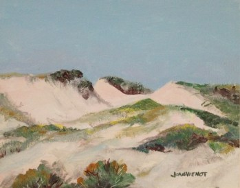 Painting of the dunes at Grayton Beach State Park for the Great American Paint-Out, 2012