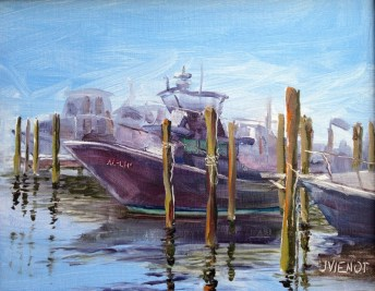 Oil Painting of The Al-Lin in Destin Harbor