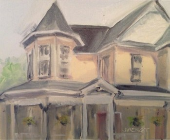 Oil Painting of Chrissie's House