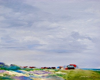 Oil painting of at Henderson Beach, final version, 1a
