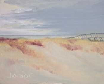 Oil painting of the dune walkover at Henderson Beach State Park, Destin, Florida