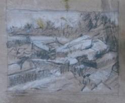 2014-0511 Value Sketch, Rocky Shoreline