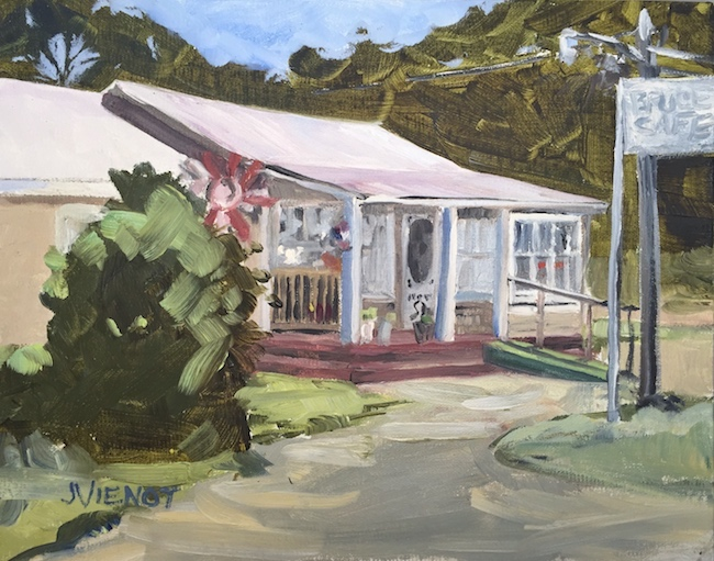 Oil painting of Bruce Cafe, in Bruce, Florida