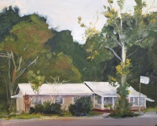 Oil painting of Bruce Cafe, Bruce, Florida