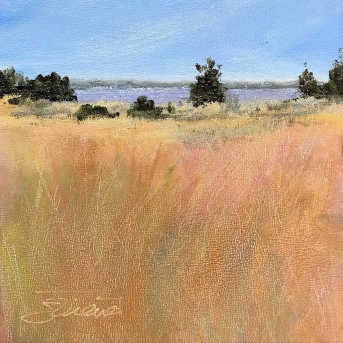 Oil painting of Gulf Islands National Seashore on Okaloosa Island