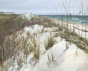 Oil painting of the massive primary dune at St. George Island State Park, FL