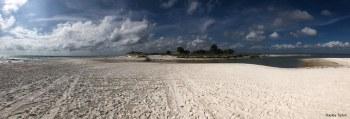 Photo of the breach in St. Joseph Peninsula, Cape San Blas, Florida, 5pm 5-30-19, by Hayley Tipton