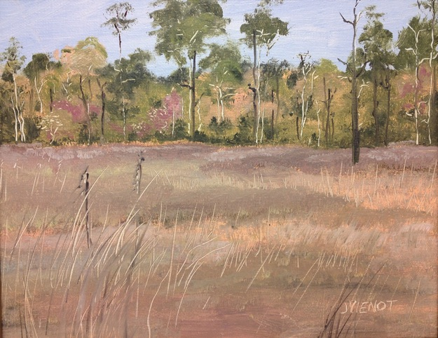 Oil Painting of Bayou Grass, Point Washington, FL